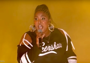 Lizzo's Performance Of 'Juice' On 'Kimmel' Paid Tribute To Nipsey Hussle