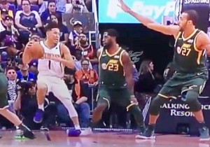 Devin Booker Suffered An Ugly Looking Ankle Sprain Against Utah