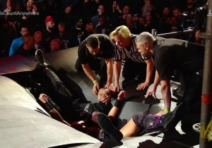 Watch The Crazy Finish To The Falls Count Anywhere Match Between Miz And Shane McMahon At WrestleMania