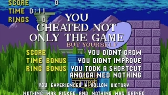 Sonic The Hedgehog Would Like To Teach You A Lesson About Cheating