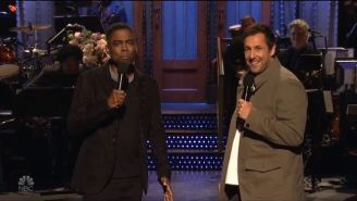 Adam Sandler Sang About Being Fired From 'SNL' With Chris Rock And Pete Davidson In His Opening Monologue