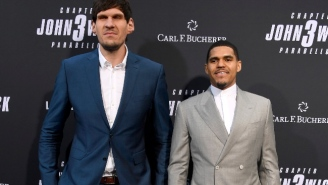 Tobias Harris Joined Boban Marjanovic At The Premiere Of 'John Wick: Chapter 3'