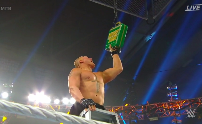 Brock Lesnar Returned To WWE In The Main Event Of Money In The Bank