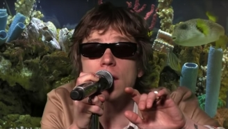 Cage The Elephant Gets Crazy In A Fish Tank While Playing 'Broken Boy' On Adult Swim's 'FishCenter'