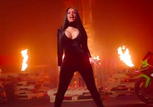 DJ Khaled, Cardi B, And 21 Savage Bring The Heat In Their Pyrotechnics-Filled 'Wish Wish' Video