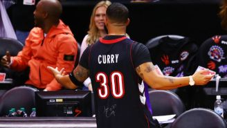 We Now Know The Extreme Lengths Drake Went To Troll Steph Curry With His Dad's Raptors Jersey