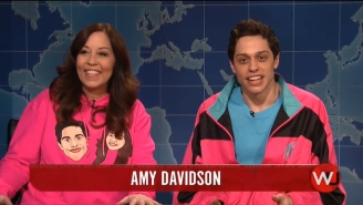 Pete Davidson Celebrated Mother's Day By Bringing His Mom On 'SNL' Weekend Update