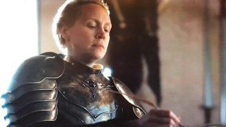 'Game Of Thrones' Fans Make A Meme Of Brienne Writing In The Book of Brothers