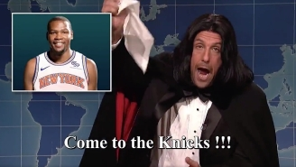 Adam Sandler's 'SNL' Opera Man Says Kevin Durant Is Joining The Knicks