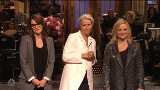 Emma Thompson Brought Tina Fey And Amy Poehler On 'SNL' To Translate Mother-Speak