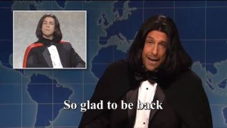 Adam Sandler Brought Back Opera Man To Sing About The News On 'SNL' Weekend Update