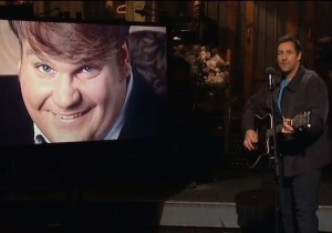 Adam Sandler Sang A Moving Song About His Friend Chris Farley On 'SNL'