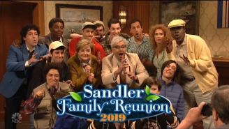 Adam Sandler Has A Family Reunion Filled With Familiar Characters On 'SNL'