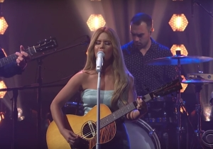 Maren Morris Gave A Sweet And Nostalgic Performance Of 'A Song For Everything' On 'Colbert'