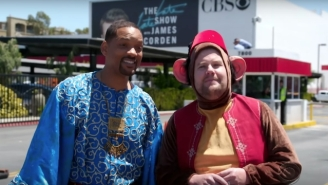 Will Smith Wowed Los Angeles Traffic With An 'Aladdin' Reimagining On Corden's 'Crosswalk: The Musical'