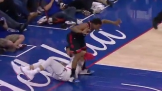 Ben Simmons Caught Kyle Lowry With A Questionable Elbow To The Groin