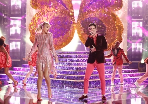 Taylor Swift And Brendan Urie Gave A Sparkly Performance Of 'ME!' On 'The Voice'