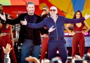 John Travolta Finally Shaved His Head Because Pitbull Told Him To Do It