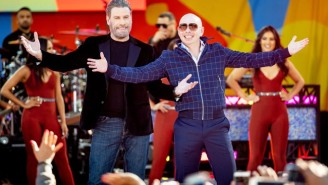 John Travolta Finally Shaved His Head Because Pitbull Told Him To Do It