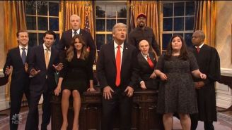 'SNL' Cold Open Found Alec Baldwin's Trump Singing Queen In Celebration Of A Second Term