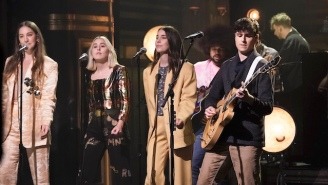 Vampire Weekend Recruited Haim To Help Them Play Two 'Father Of The Bride' Songs On 'The Tonight Show'