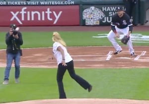 A Wild First Pitch Before White Sox-Royals May Be The Worst In Baseball History