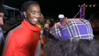 Young Thug Cut His Nardwuar Interview Short To Join Travis Scott On Stage At Rolling Loud