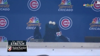 Cookie Monster From 'Sesame Street' Sang 'Take Me Out To The Ballgame' At Wrigley Field
