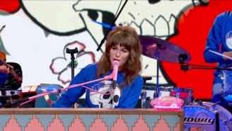 Jenny Lewis Took The 'Late Show' Stage To Perform The Airy 'On The Line' Highlight 'Wasted Youth'