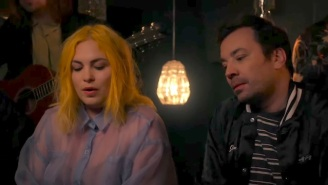 Jimmy Fallon Sits In With The Head And The Heart To Perform 'Rivers And Roads'