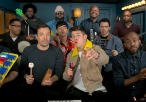 Jonas Brothers Played 'Sucker' On Classroom Instruments With Jimmy Fallon And The Roots