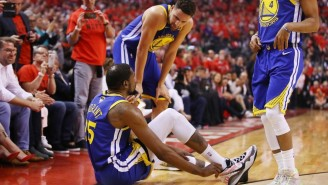Steve Kerr Says Kevin Durant Had Been Cleared By Outside Doctors And Injuring His Achilles Was A 'Shock'