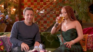 Rihanna Got Drunk With Seth Meyers, And Things Got A Little Crazy
