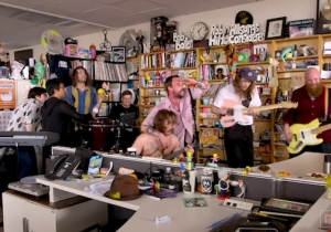 Idles' Intense NPR Tiny Desk Performance Got Some Assistance From The Staff