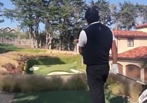 Phil Mickelson Made A Hole-In-One On Jim Nantz's Backyard Mini-Par 3 At Pebble Beach