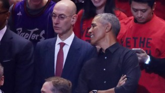 Barack Obama And Drake Met Up Prior To Game 2 Of The NBA Finals