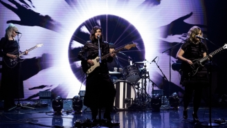 Sleater-Kinney's Rocking 'Tonight Show' Performance Of 'Hurry On Home' Was A Visual Spectacle