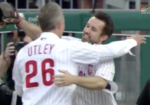 Mac From 'It's Always Sunny' Finally Got To 'Have A Catch' With Chase Utley