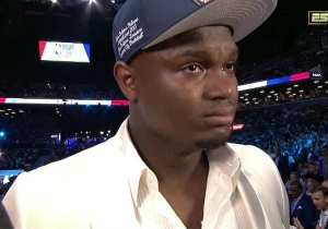 Zion Williamson Gave An Emotional Speech About His Mother After He Was Drafted No. 1 Overall