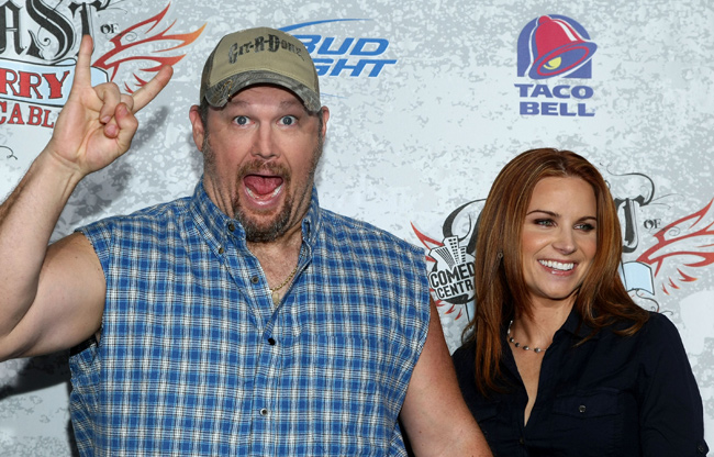 Larry The Cable Guy and Wife Cara Whitney in 2009