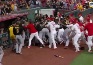 The Reds And Pirates Took Part In A Five-Minute Fight For The Ages