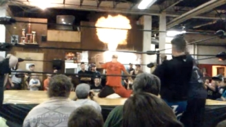 An Indie Wrestler Was Badly Burned While Breathing Fire