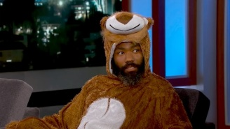 Donald Glover Wore A Lion Costume And Talked About Beyonce On 'Jimmy Kimmel Live!'