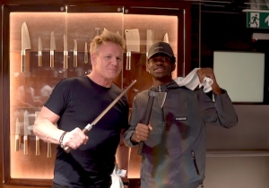Gordon Ramsay And Lil Nas X Now Have A Video Of Themselves Making Paninis With An Axe
