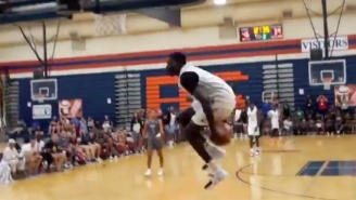 High Schooler Jimma Gatwech Unleashed A Crazy Under-The-Legs Dunk In An AAU Game