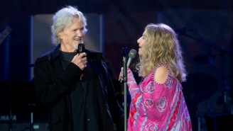 Barbra Streisand And Kris Kristofferson Performed An 'A Star Is Born' Song Live For The First Time