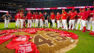 The Angels Threw A Combined No-Hitter And Honored Tyler Skaggs In An Emotional Postgame Celebration