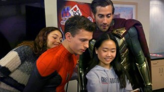 The 'Spider-Man: Far From Home' Cast Paid A Visit To A Children's Hospital While In Costume