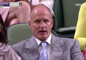 Woody Harrelson Was Mortified After Nicolas Mahut Took A Tennis Ball To The Junk At Wimbledon