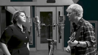 Ed Sheeran And Yebba Deliver An Intimate Studio Performance Of 'Best Part Of Me'
